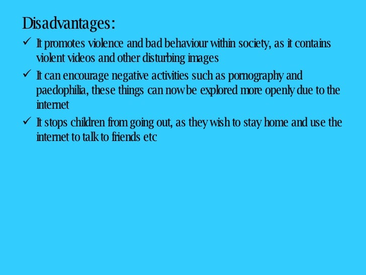 Advantages and disadvantages of internet essay for class 9
