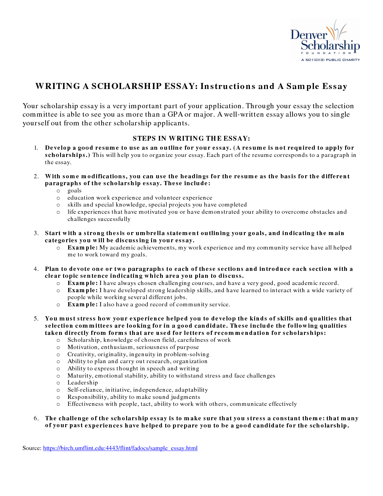Best essay writing examples