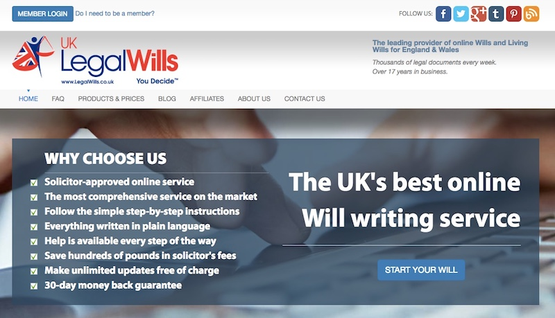 Online Will Writing Service