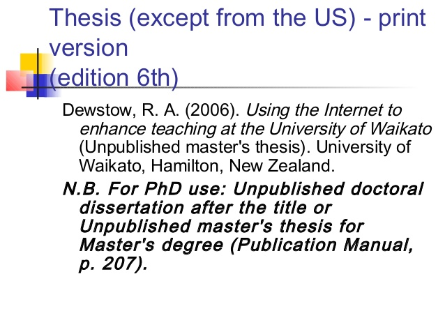 how to cite a book in thesis