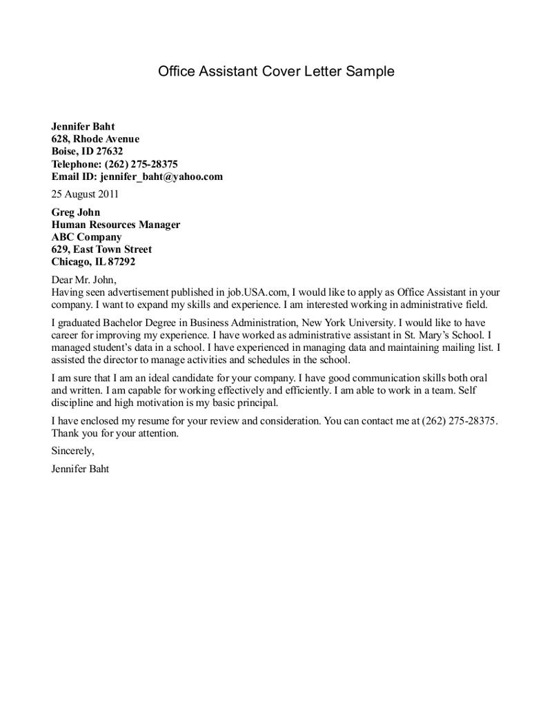 Cover letter for medical office assistant essay writing in english ...