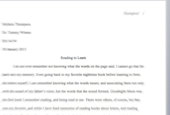 First Page Of Essay Mla Style