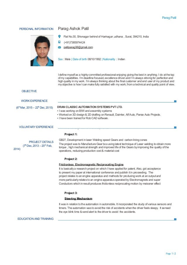 Experienced Resume For Mechanical Engineers Homework Helps