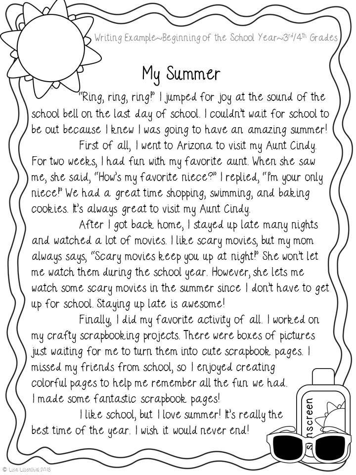 Third grade descriptive essay