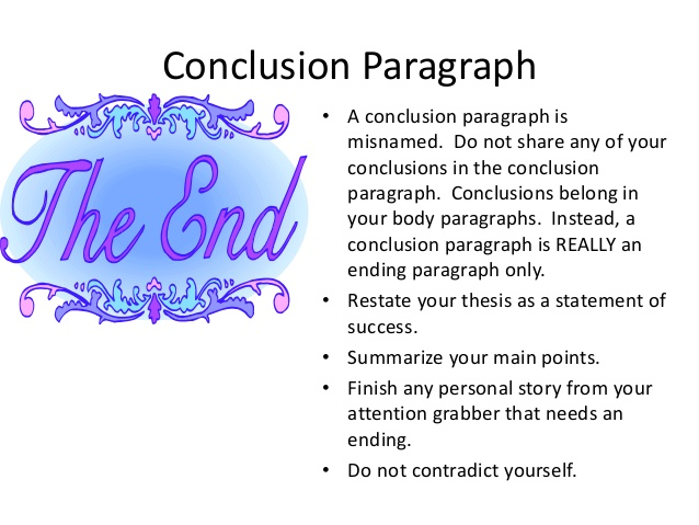 Examples of conclusions in an essay