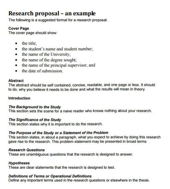 Writing a dissertation proposal you