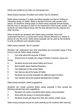 help writing satirical essay paper editing symbols help writing satirical essay