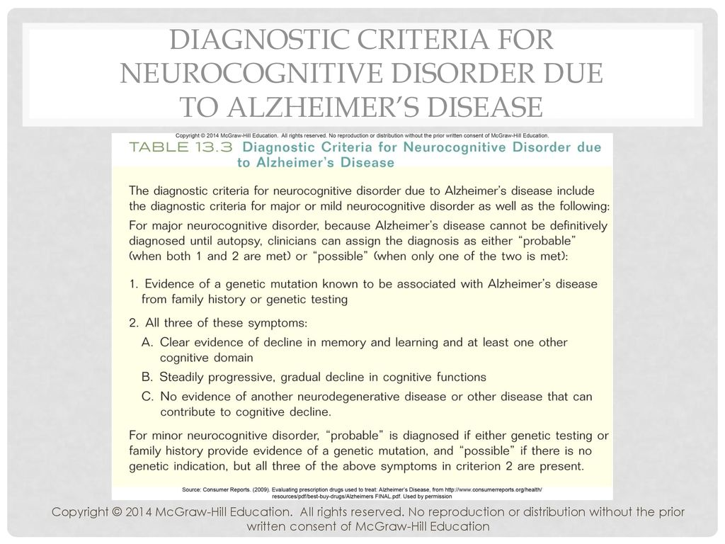 neurocognitive disorder due to alzheimers hesi case study