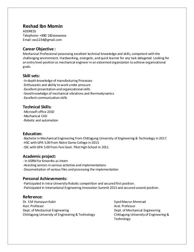 Objectives For Resume For Mechanical Engineers Custom Research Paper Writing Services