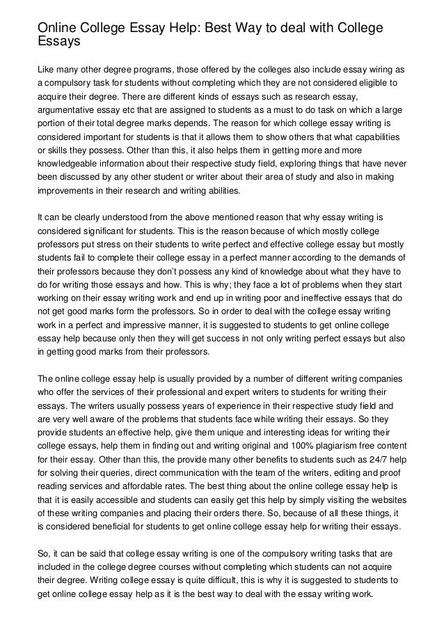 Best college essays reddi
