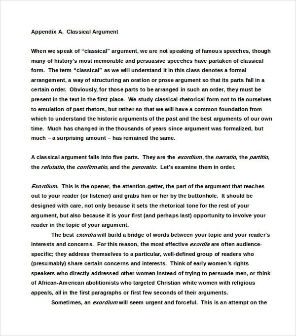 Classification And Division Essay Template